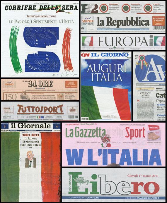 testate 150 anni italia