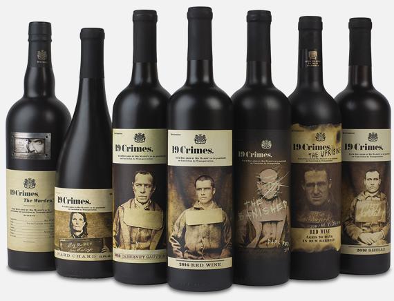 19 crimes bottiglie