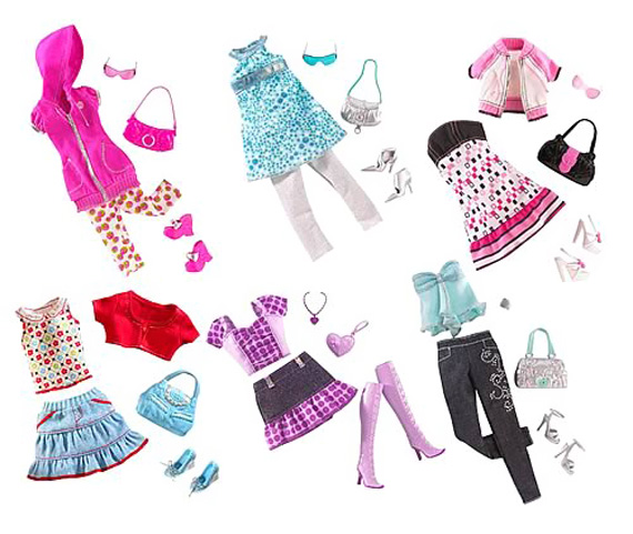 vestiti e accessori barbie