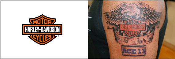 Harley Davidson tatuaggio