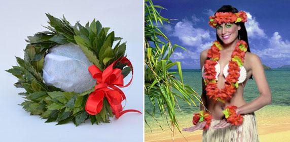 corona alloro e hawaiana