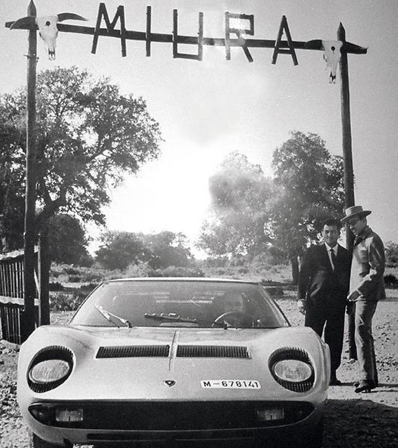 Ferruccio Lamborghini con Eduardo miura