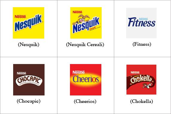 Alcuni Brand di Nestlè