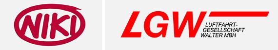 Loghi Niki e LGW