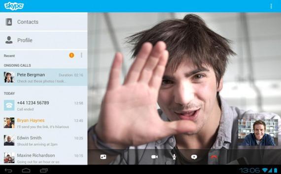 Videochiamate skype android