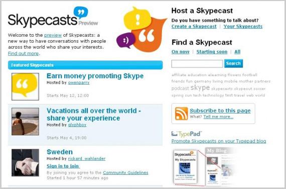 Skypecasts