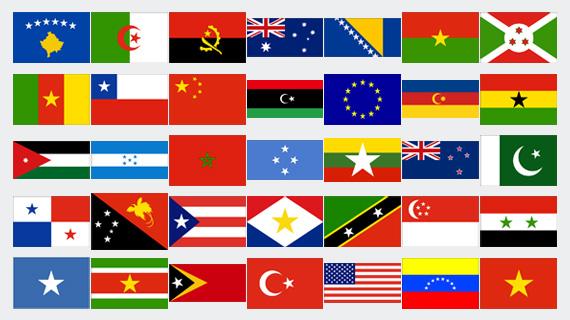 stelle nelle  bandiere