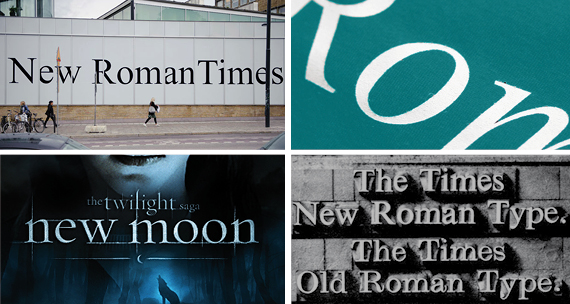applicazioni  font Times New Roman