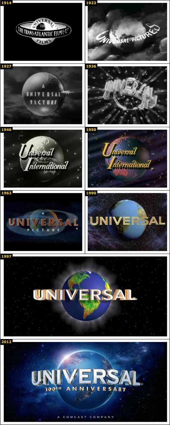 L'evoluzione del logo Universal