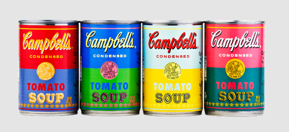 latte in edizione limitata della Campbell's